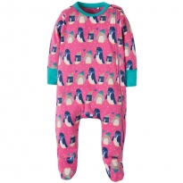 Frugi Penguin Zipped Babygrow
