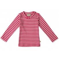 Frugi Raspberry Stripe Mia Pointelle Top