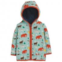 Frugi Prehistoric Pals Reversible Snuggle Jacket