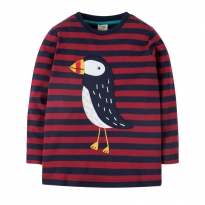 Frugi Puffin Discovery Applique Top