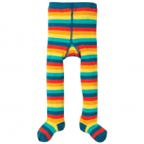 Frugi Rainbow Multi Stripe Tamsyn Tights