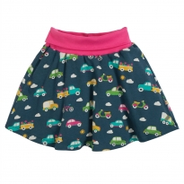 Frugi Rainbow Roads Parsnip Printed Skirt