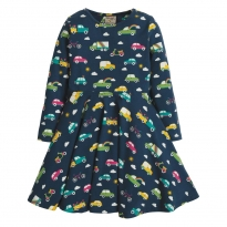 Frugi Rainbow Roads Sofia Skater Dress