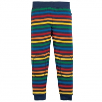 Frugi Rainbow Stripe Leap About Cuffed Leggings