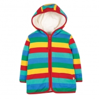 Frugi Rainbow Stripe Reversible Snuggle Jacket