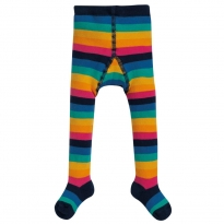 Frugi Rainbow Stripe Toasty Tights