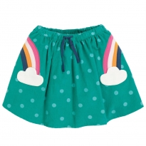 Frugi Rainbow Tabby Twirly Skirt