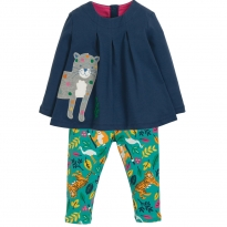 Frugi Snow Leopard Ottilie Top & Leggings