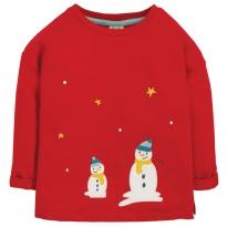 Frugi Snowmen Scarlett Slouchy Tee