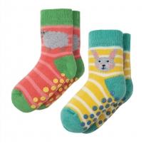 Frugi Bunny Grippy Socks x 2