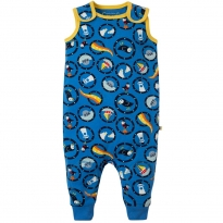 Frugi All Aboard Kneepatch Dungarees