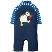 Frugi Blue Puffin Little Sun-Safe Suit