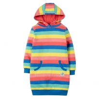 Frugi Harriet Bright Rainbow Hoody Dress