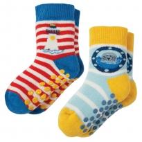 Frugi Lighthouse Grippy Socks x2
