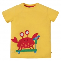 Frugi Crab James Applique T-Shirt
