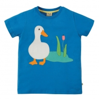 Frugi Evie Duck Blue T-Shirt