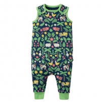 Frugi Farm Floral Kneepatch Dungarees