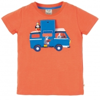 Frugi Finley Interactive Campervan Applique Top