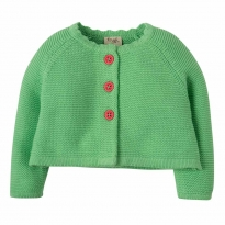 Frugi Green Carrie Knitted Cardigan