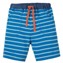 Frugi Blue Crab Little Breton Stripy Shorts