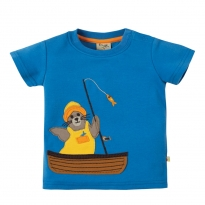 Frugi Little Creature Fishing Seal Applique Top