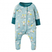 Frugi Pelican Party Lovely Babygrow