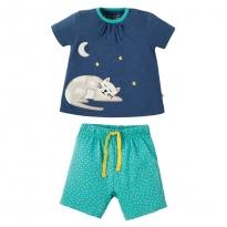 Frugi Little Peony Cat Pyjamas
