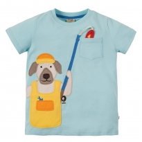 Frugi Fishing Dog Pete Pocket T-Shirt