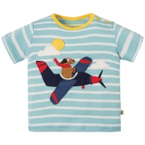Frugi Plane Atlantic Applique T-Shirt