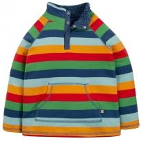 Frugi Rainbow Stripe Snuggle Fleece