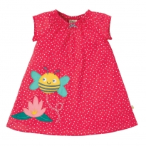 Frugi Scatter Spot Bee Amy Applique Dress