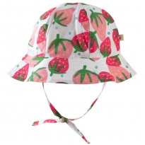Frugi Scilly Strawberries Reversible Ditsy Hat