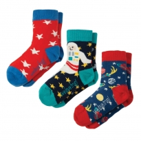 Frugi Space Rock My Socks x3