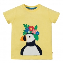 Frugi Sunshine Puffin Evie T-Shirt