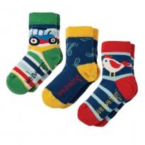 Frugi Tractor Little Socks x3