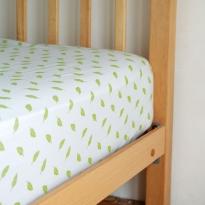 Frugi Soft White Leaf Sleepy Single Bed Sheet
