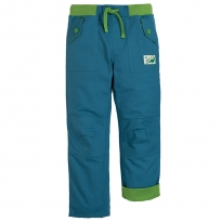 Frugi Steely Blue Adventure Roll Up Pants