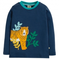 Frugi Tiger Adventure Applique Top