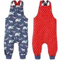 Frugi Snowscape Topsy Turvy Dungarees