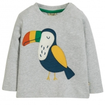 Frugi Toucan Little Discovery Applique Top