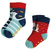 Frugi Tractor Grippy Socks 2 Pack