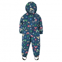 Frugi Blue Tractors Puddle Buster Suit