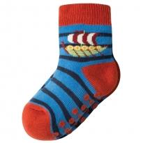 Frugi Viking Boat Grippy Socks x2