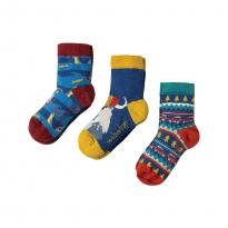 Frugi Walrus Rock My Socks 3-Pack