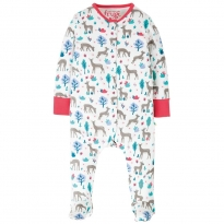 Frugi Watermelon Sika Deer Ditsy Lovely Babygrow