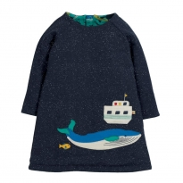 Frugi Whale Peek A Boo Dress