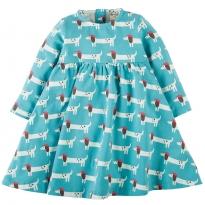Frugi Beret Dogs Tess Twirly Dress