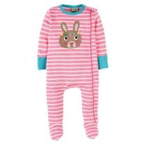 Frugi Bunny Zipped Babygrow