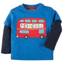 Frugi Bus Little Look Out Applique Top