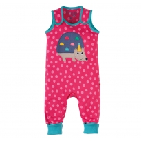 Frugi Hedgehog Applique Kneepatch Dungarees